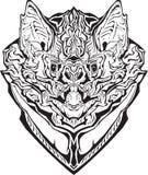 Сердитая летучая мышь изолировано Страница расцветки Иллюстрация вектора