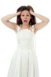 сердитая невеста Стоковая Фотография
