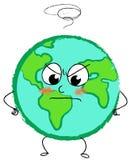 сердитая планета земли стоковое изображение