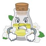 Сердитое масло жасмина в форме мультфильма иллюстрация штока