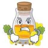 Сердитое масло мустарда в оболочке в коробке талисмана иллюстрация штока