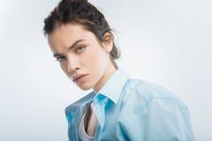 Сердитое неудовлетворённое преданное чувство женщины Стоковая Фотография