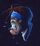 сердитое рэгби игрока стоковое изображение