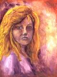 сердитое lenora s девушки Иллюстрация штока