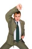 сердитые детеныши бизнесмена Стоковое Фото