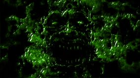 Сердитые клекоты стороны демона от темноты Зеленый цвет бесплатная иллюстрация