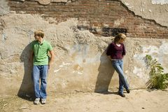 сердитые пары предназначенные для подростков Стоковое Изображение