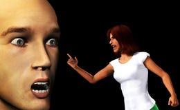 сердитые ые женщины Стоковая Фотография RF
