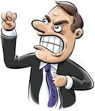 сердитый бизнесмен иллюстрация вектора