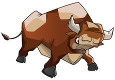 сердитый бык Стоковые Изображения RF
