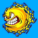 сердитый вектор солнца изображения иллюстрация штока