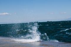 Сердитый вид на море Стоковые Фото