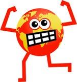 сердитый глобус бесплатная иллюстрация