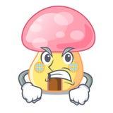 Сердитый дом гриба в характере формы бесплатная иллюстрация