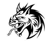 сердитый дракон иллюстрация штока