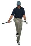 сердитый игрок в гольф Стоковое Изображение RF