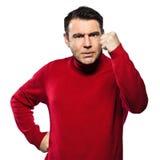 сердитый кавказский gesturing человек Стоковое фото RF