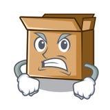Сердитый картон изолированный с в талисманом иллюстрация вектора