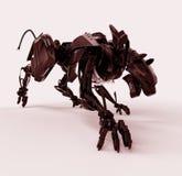 сердитый красный цвет пантеры металла cyborg Стоковое Изображение