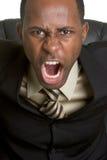 сердитый кричать бизнесмена стоковая фотография rf