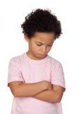 Сердитый латинский ребенок стоковые фотографии rf