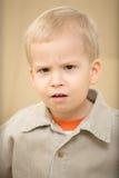 сердитый мальчик Стоковое фото RF