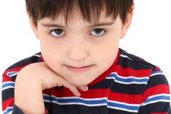 сердитый мальчик стоковая фотография