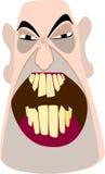 сердитый облыселый человек иллюстрация вектора