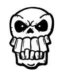 Сердитый покрашенный череп Стоковая Фотография