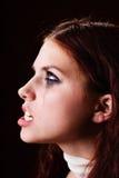 сердитый портрет девушки Стоковые Фотографии RF