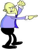 сердитый указывая работник Стоковые Фотографии RF