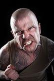 сердитый человек злейших глаз Стоковое Изображение