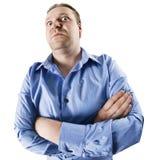 сердитый человек твердолобый Стоковое Изображение