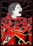 сердитый человек иллюстрация вектора
