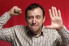 сердитый человек Стоковая Фотография