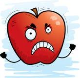 Сердитый шарж Яблоко иллюстрация штока
