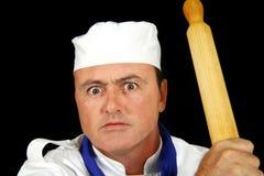 сердитый шеф-повар стоковая фотография rf