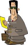 сердитый юрист иллюстрация штока