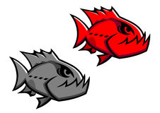 сердитый piranha иллюстрация вектора