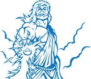 Сердитый Zeus иллюстрация штока