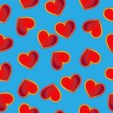 сердца безшовные иллюстрация вектора