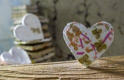сердца белые Стоковая Фотография RF