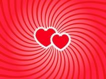 сердца вертятся 2 Стоковые Изображения