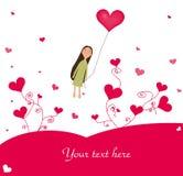 сердца девушки иллюстрация вектора