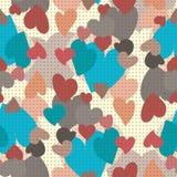 сердца делают по образцу безшовное Стоковая Фотография