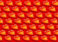 сердца делают по образцу глянцеватое Стоковая Фотография RF