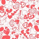 сердца делают по образцу красное безшовное романско Стоковое Фото