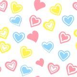 сердца делают по образцу красное безшовное также вектор иллюстрации притяжки corel иллюстрация вектора