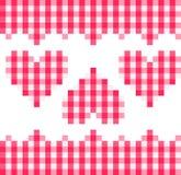 сердца делают по образцу красный цвет Стоковое Изображение RF