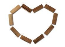 сердца деревянные Стоковые Изображения